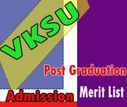 vksu pg admission merit list