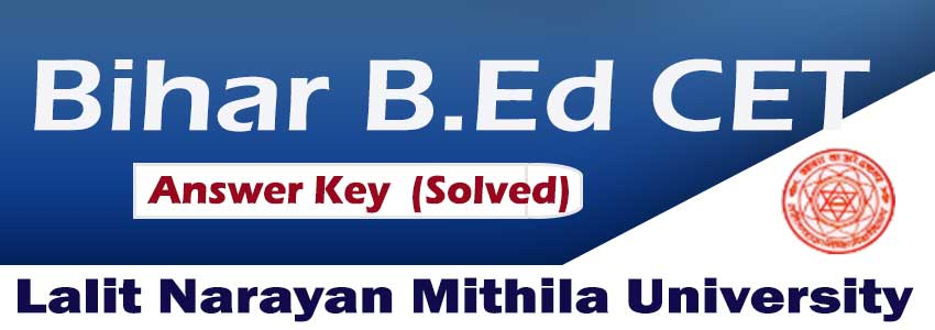 Bihar BED CET Answer key