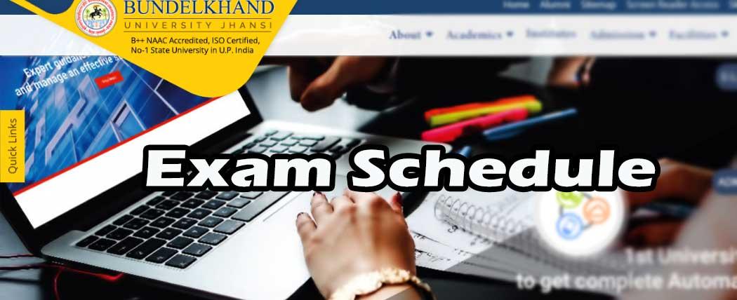 bu jhansi university exam date