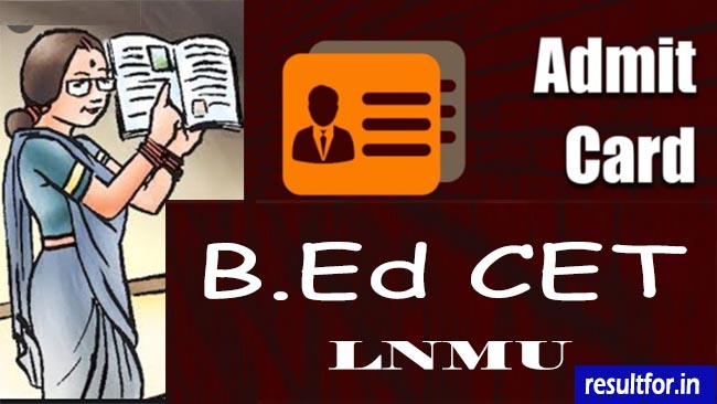 lnmu bed cet admit card