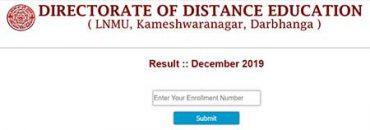 LNMU Distance Result December