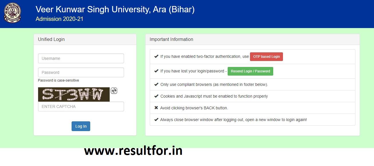 vksu ug admission 1st merit list released