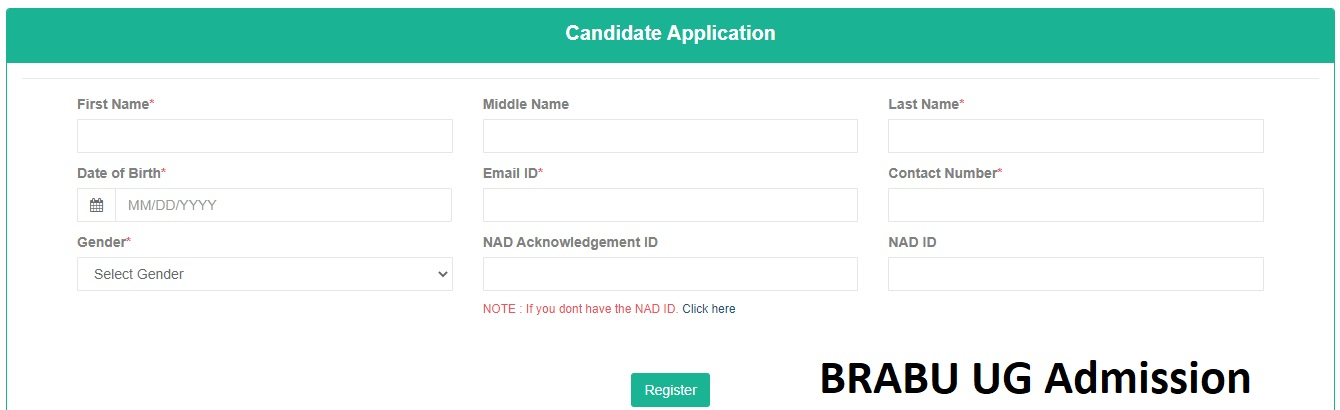 BRABU UG Admission Apply 2020-23