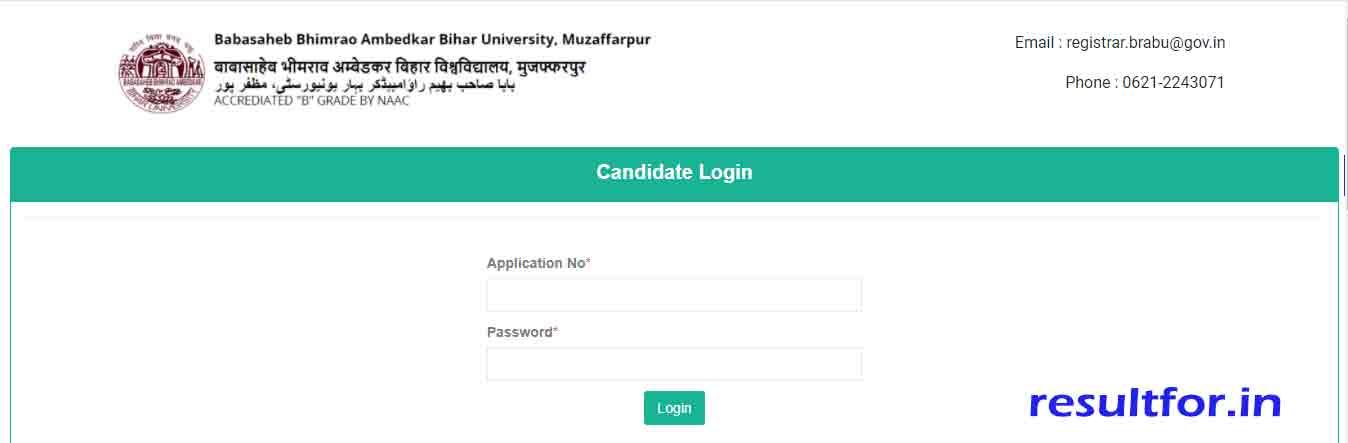 BRABU UG admission Application form 2020 edit