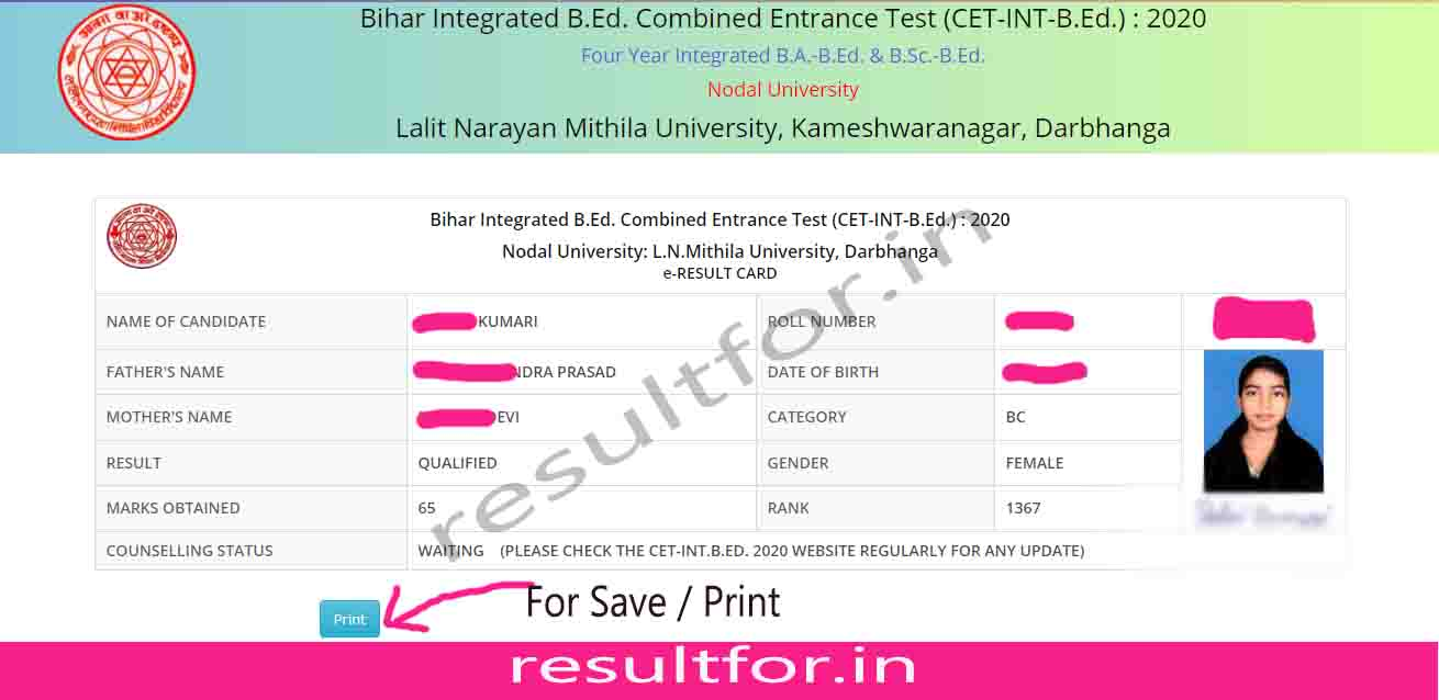 4 year bed cet result out now check online