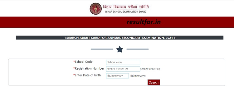Bihar Board 10th Dummy Admit Card 2021 Available for Download