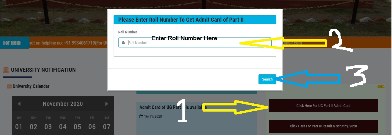 how to download lnmu ug part 2 exam admit card know