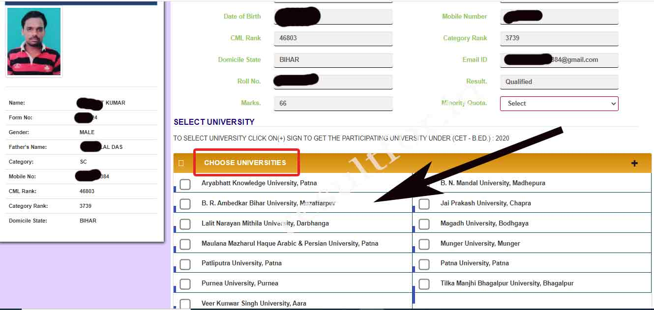 First select university for B.ed 2 year admission counselling