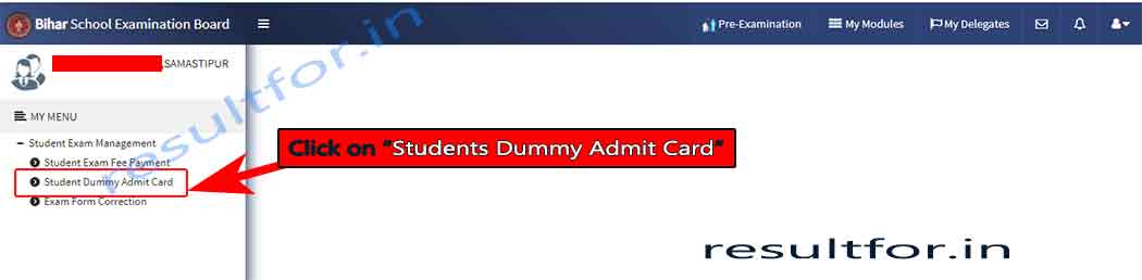bihar board inter dummy admit card for students download link