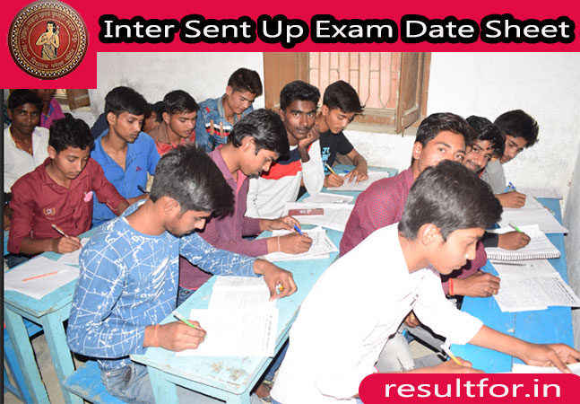 bihar board inter sent up exam date sheet in hindi