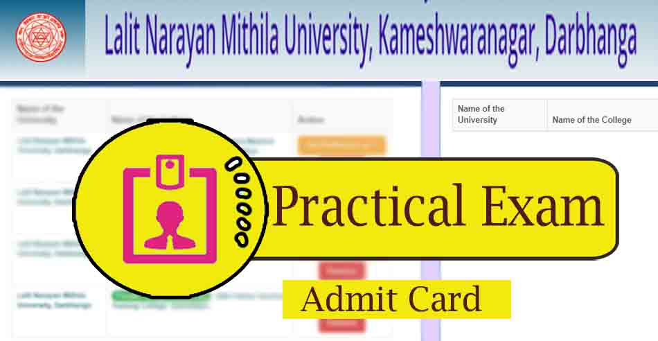 lnmu part 1 practical admit card download