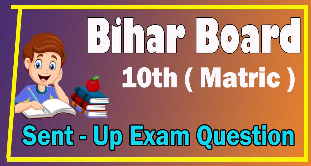 BSEB Bihar Board Matric sent up exam 2021 Questions Paper ,