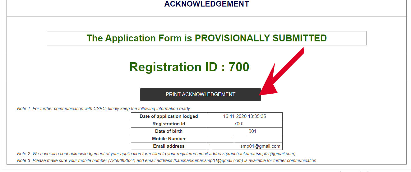 bihar police contable vacancy apply acknowledgement download