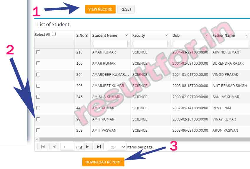 Bihar board 12th admit card students selection for download